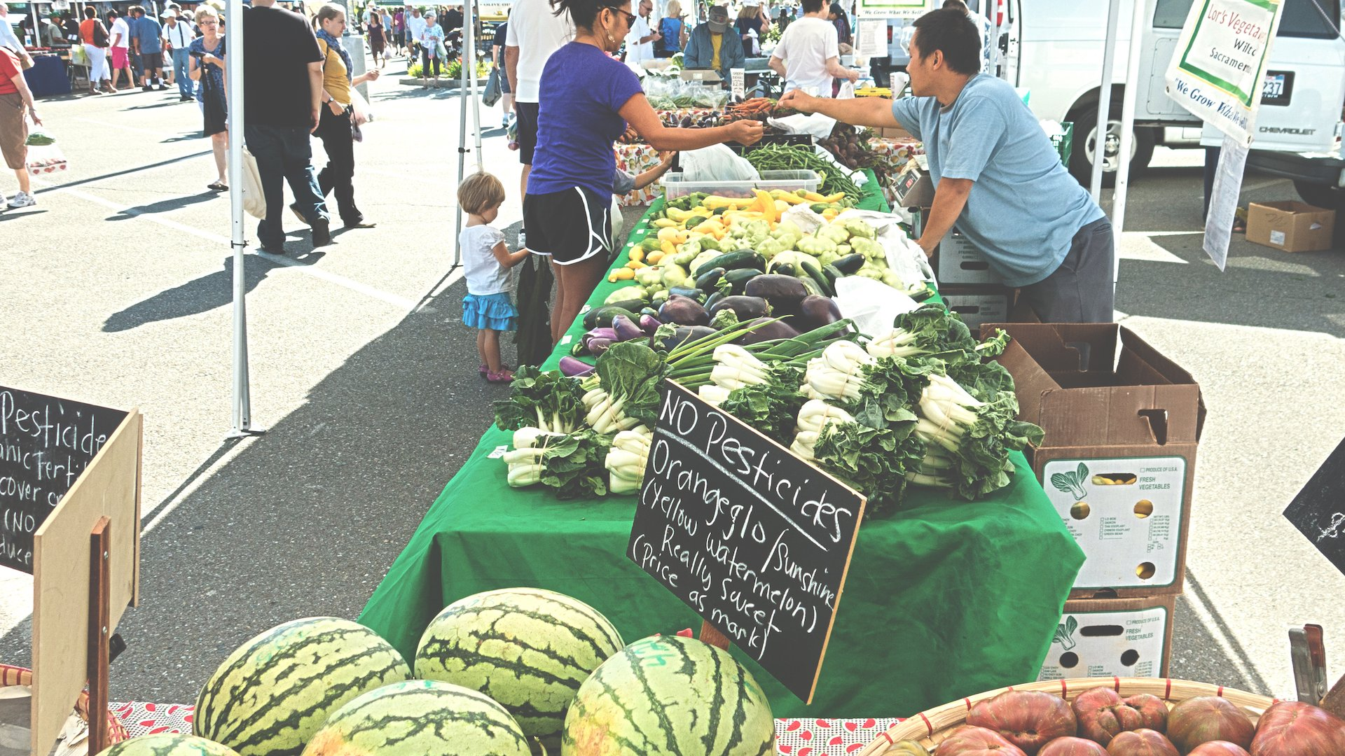 Find a farmer's market every day of the week